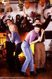 Dancing teenagers; Size=180 pixels wide